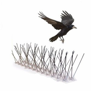2,5 m Bird Repellent Spikes Pigeon Spikes Anti Uccello Anti Pigeon Spike per sbarazzarsi di piccioni Scare Birds Pest Control 300 Spikes