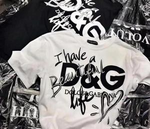 """Весна / лето 2019 футболка серии """"маленький медведь"""" с принтом """"любовь медведя"""" с хлопковыми рубашками с короткими рукавами для мужчин и женщин."""