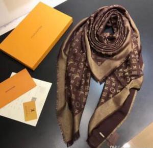 seda de lana de invierno de las mujeres de la bufanda de las bufandas Lamé alta calidad clásico de las señoras del abrigo de las bufandas 140x140cm para el regalo de Navidad