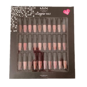 STOCK NYX SOFT MATTE VAULT Lingerie Vault Lipstick Lip Gloss Matte No Fading Soft Velvet Lip Makeup kit 36 colors 30 color