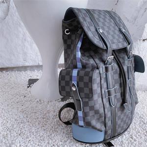 Erkekler sırt çantası klasik marka yeni varış iş tarzı çift omuz çantaları büyük kapasiteli hakiki deri bilgisayar çantaları