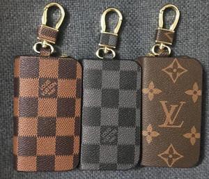 Keychain Porte-monnaie en cuir PU cas unisexe Key Wallet Couleurs Organisateur clés Sac support voiture Gouvernante Pouch