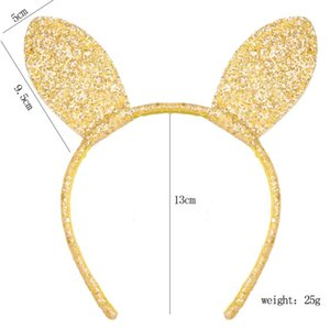 New Design Girls Lovely Rabbit Ears headband alloy thin glitter cartoon photo prop hair band women hair accessories headdress K5