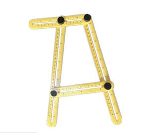 Angle-Angle izer Misura regolabile pieghevole a quattro lati di misura strumento di Multi-Angolo Template righello scala Misure 6 colori scelgono