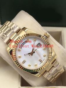 12 New Hot Sell Unisex Relógios 36 mm 118238 128238 118239 118208 Data Presidente 18k Amarelo Ouro Asiático 2813 Movimento Automático Relógios