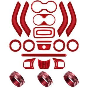 21 PCS Полный комплект Внутренняя отделка Kit-дверные ручки Кубок Крышка рулевого колеса Центр консоли уравновешивания воздуха на выходе Крышка для Wrangler