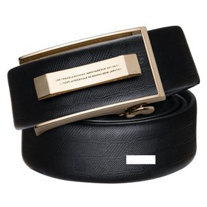 2018 Smooth cinghie con chiusura automatica per gli uomini solido cinghia di cuoio genuina della cinghia di buona qualità cintura For Business