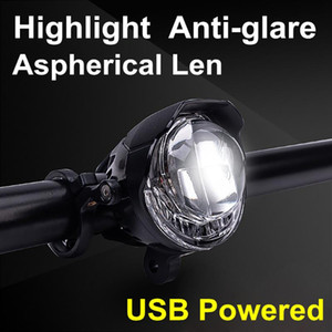 Bike Light Anti-glare High Light LED Cycling Bike Lamp Bicycle Head USB Powered Bicycle Accessories Luz Bicicleta X#2