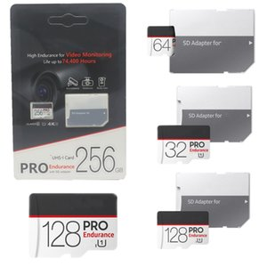 2020 MICRO SD Card Black High Endurance For Video Monitoring Class 10 PRO 256GB-32GB Memory Card Flash 4k SD Adapter Retail