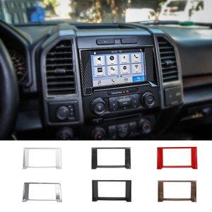Quadro ABS toque GPS Navigation Decoração Anel Cobre Para Ford F150 2015 UP Car Acessórios Interior
