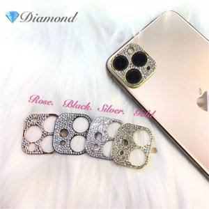 New Bling Diamond Camera Lens Protector For iPhone 11 Pro Max Glitter Rhinestone Camera Protective Ring For iPhone 11 Pro Max Cover