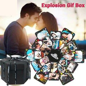 Hexagone Surprise Box Explosion Scrapbook bricolage Album photo Album Creative Album boîte-cadeau pour la Saint-Valentin mariage pop-up carte 3D