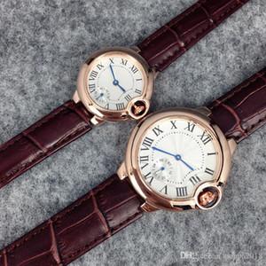 2020 Top Fashion Brand Watch Relojes de cuero para hombre / mujer Negro / Brown Wristwatch Envío gratis Relojes de fiesta Venta caliente Nuevo modelo