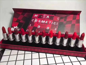 EPACK M Trucco Lip Collection Rossetto Set rossetto opaco 12 colori peperoncino LipKit 12pcs / set