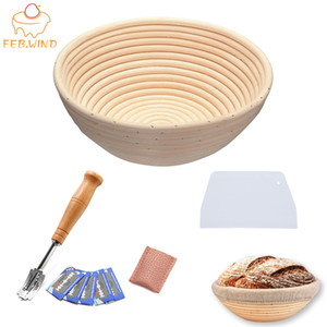 Baking Utensils Set Includ Bread Proofing Basket Plastic Dough Cutter Knife Slicer Bread Lame Toos Sourdough Proofing Basket 704 Y200612