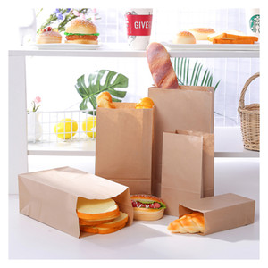 10pcs Kraft Paper Bags Small Gift Bags Sandwich Bread Baking Pouch Party Wedding Supplies Wrapping Takeout