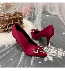 les plus récentes femmes printemps chaussures de mariée blanche chaussures de demoiselle d'honneur française chaussures habillées T-show de haute qualité talons mi footwears rouge dame partie