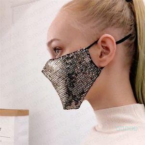 Bling Bling Русалка блестки защитная маска PM2. 5 пылезащитная крышка рта моющаяся маска для лица Антипылевые респираторы эластичная ушная крышка E4902