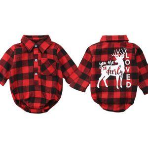 FOCUSNORM Xmas recém-nascido Crianças Baby Girl Boy Natal Elk Romper manga comprida Jumpsuit Roupas Roupas
