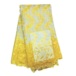 Tecidos de renda africana do casamento bordado atacado barato net lace para casamento 3d flor de cabelo comprido francês rendas tecidos