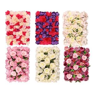 Künstliche Rosen-Blumen-Dekoration-Blumen-Wand-40 * 60cm Romantische Hochzeit Weihnachten Hintergrund Dekor-Blumen-Party Supplies GGA2378