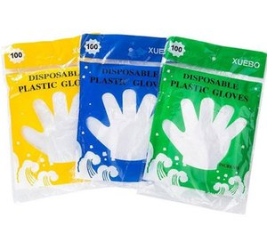 PE Disposable Glove Oil Proof Waterproof Transparent Gloves Multi Function Easy To Use Mittens For Home Clean