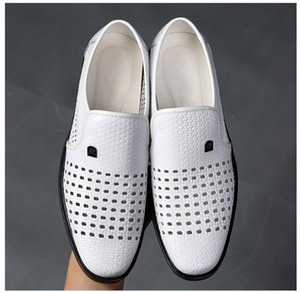 hommes chaussures robe blanche hommes chaussures italiennes en cuir véritable coiffeur creux chaussures formel hommes Zapatos classique para hombre 635