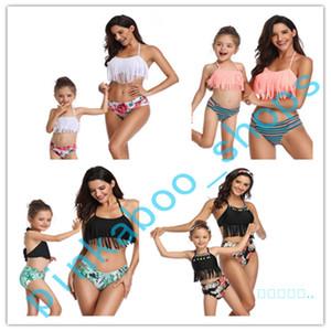 2020 Verão Mulheres Kids 2 pedaço Underwear Bikini Set Marca Swimwear de alças Swimsuit Pai-filho Sexy Bikinis Beachwear Suit LY413