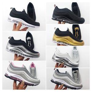 Nike air max 97 Bebê Kids Shoes Kanye West Zebra Running Shoes 2020 Children Atlético Beluga 2,0 Sports Sneakers preto prateado Ouro 28-35