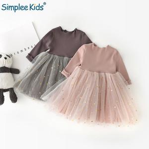 Giappone bambini ragazze principessa abito bambini versione coreana pentagramma manica lunga vestiti della neonata vestiti per ragazze Tutu Q190522