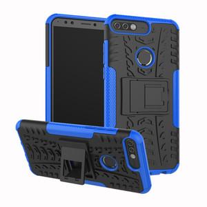 Dazzle Hibrid Etki Sağlam Zırh Vaka Huawei Y5 Y6 Y7 Başbakan Y9 2018 Onur 7 s 10 7A 20 Pro Darbeye Kapak Kickstand