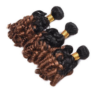 Top Calidad Ombre Color 1B / 30 Funmi Human Hair Weave Best Selling Products Bouncy Curl Funmi Hair