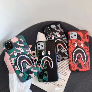 Für iPhone 11 Pro X XS XR Max Phone Case Mode Camouflage Shark Mouth Designer weiche TPU Fälle für iPhone 11 Pro 7 8 7Plus Plus-Abdeckung Coque