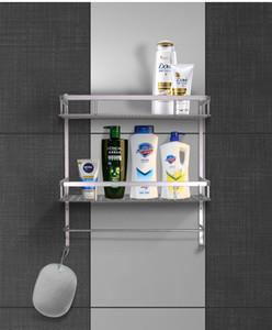 욕실 스토리지 선반은 벽이 설치 거대한 저장 공간, 편리한 스토리지 선반 샤워 마운트 (싱글 / 듀얼 계층 선반)