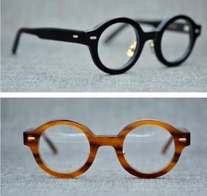 Marco de la marca redonda marcos de las lentes de la miopía vidrios ópticos gafas de lectura Oliver Goldsmith estilo de titanio puro de la nariz del cojín marcos de espectáculo