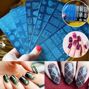 10 Lindo Design DIY Stencil Nail Art Stamp imagem Estampagem Placa Manicure Template Ferramenta