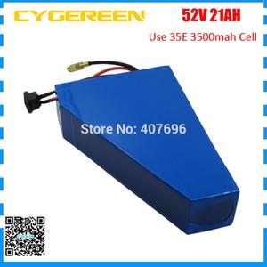 batteria di litio di bici 52V 21ah elettrico ion 51.8V 14S 21ah triangolo con il sacchetto libero uso 35E cellule 3500mAh 2A Charger