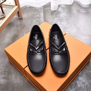 British men's leather bean shoes, spring summer casual fashion shoes fashion Causal shore