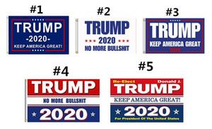 Trump 2020 Drapeau Imprimer Gardez l'Amérique Grande bannière Décor pour le Président USA Élection américaine No More Bullshirt Donald Drapeau 90x150cm