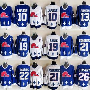 Quebec Nordiques Winter Classic Hombres 10 Guy Lafleur 13 Mats Sundin 21 Peter Forsberg 26 Peter Stastny 19 Joe Sakic 22 Mario Marois Jersey