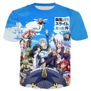 Nova Moda Homens / Mulher Tensei Shitara Slime Datta Ken Engraçado 3D Impressão T-Shirt Casual Manga Curta Engraçado T Shirt Tees Tops T-shirt BB88