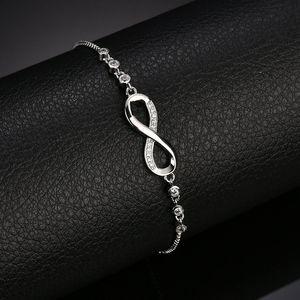 diamante Infinity catene Bracciale in oro monili di trazione regolabile braccialetti di donne di fascino braccialetti volontà e il dono di sabbia