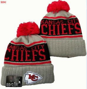 2020 caldi di marca di modo donne degli uomini di Kansas City Beanie KC invernali Cappelli caldo molle Beanie Caps Crochet elasticità maglia casuale Warmer Berretti 00