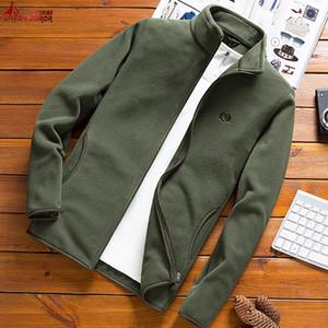 Hombre Fleece táctico Softshell chaqueta rompevientos ropa exterior Sporting térmica masculina Turismo de Montaña hombres de las capas Ejército chaquetas V191019