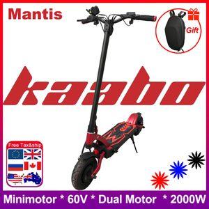 2020 originale Kaabo Mantis double moteur e-scooter 2000W LG batterie 60V 24.5Ah scooter électrique à deux roues de planche à roulettes pliable