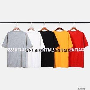 FOG Essential T Shirt for Summer Mens High Street Style Short Sleeve EST Designer Tees 5 Colors Homme Tshirt T18P1YF2JE92JE9