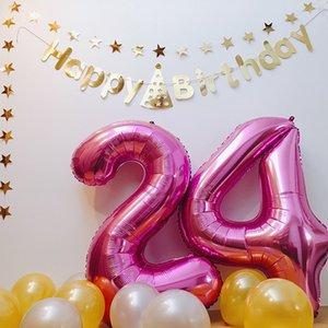 40 Zoll Anzahl Ballon 1 2 3 4 5 Anzahl Digit Helium Folie Ballons Baby Dusche 1st Birthday Party Hochzeit Decor Bälle Liefert