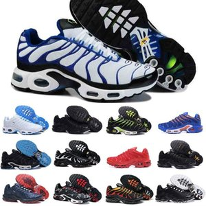 Wholesale 2019 New Tn Mens Shoes Cheap Black White Red Air TN Plus Ultra Sports Shoes Classic TN Requin Designer Sneakers
