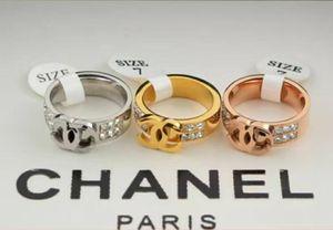 Brand Titanium Steel Wedding Designer Couple Ring Female C Letter Engagement Ring Men's Jewelry Gift Fashion Accessories