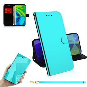 Étui en cuir PU lisse PU pour Xiaomi Redmi Remarque 8T / MI CC9 PRO / MI Note 10 / mi NOTE 10 PRO Tablette de couverture